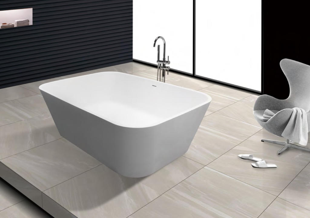 white solid surface bathtub OEM-1