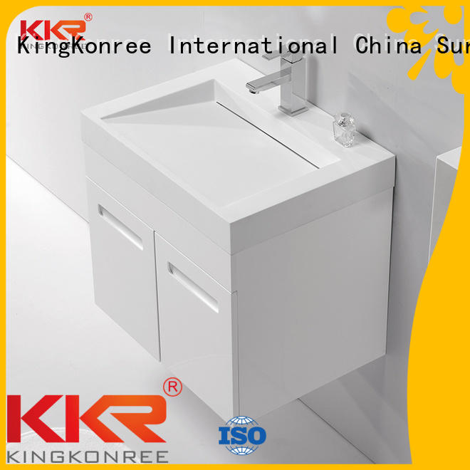 acrylic cabinet kkr KingKonree Brand basin with cabinet price manufacture