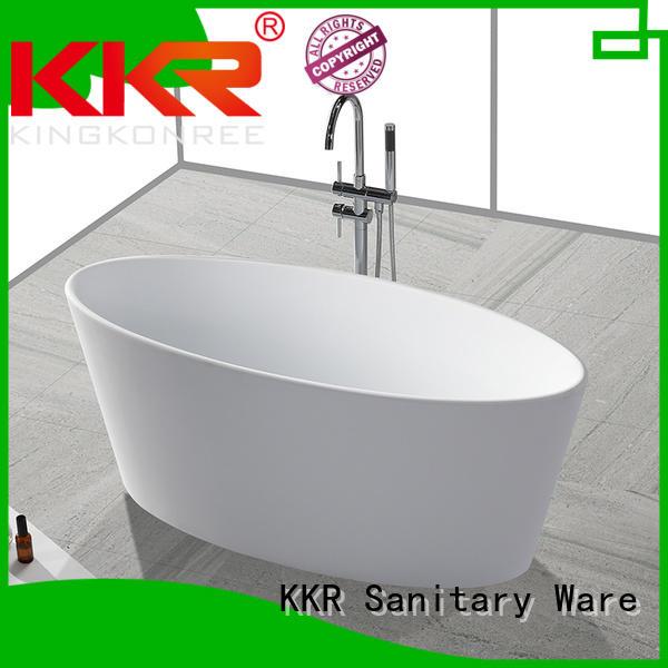 Quality KingKonree Brand Solid Surface Freestanding Bathtub black