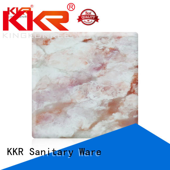 surface solid acrylic sheet texture pattern KingKonree Brand