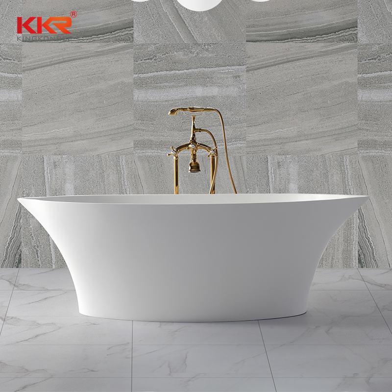 KingKonree Bathroom furniture polymarble acrylic solid surface freestanding bathtub KKR-B011 Solid Surface Bathtub image27