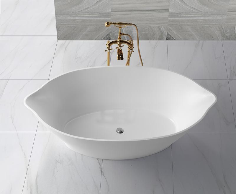 KingKonree matt stone resin bathtub supplier for hotel-1