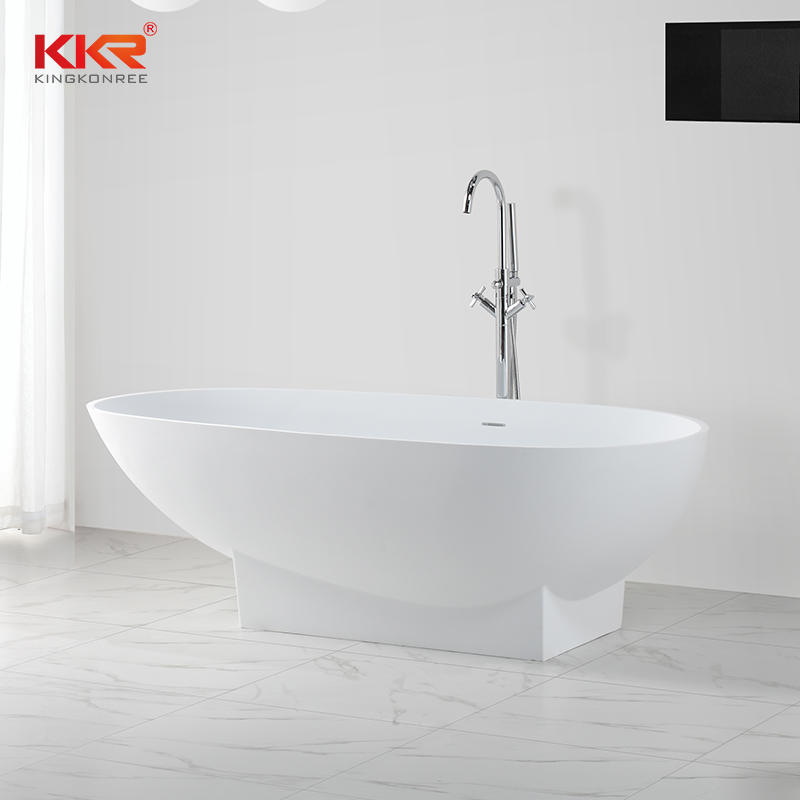 Renewable acrylic solid surface stone freestanding bathtub KKR-B021
