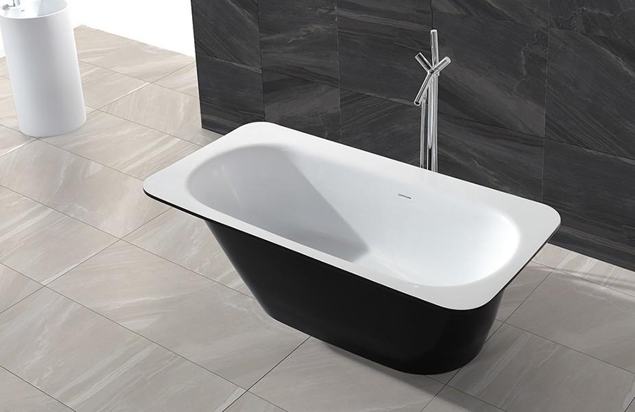 KingKonree round freestanding bathtub free design for bathroom-1