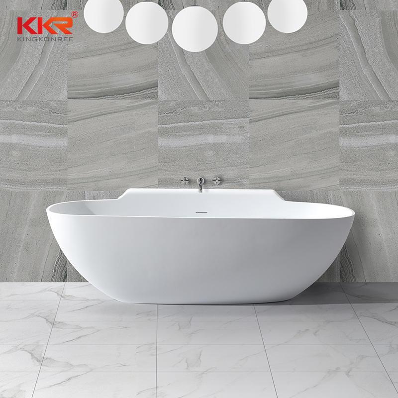 KKR al por mayor piedra artificial independiente superficie sólida bañera de remojo KKR-B025