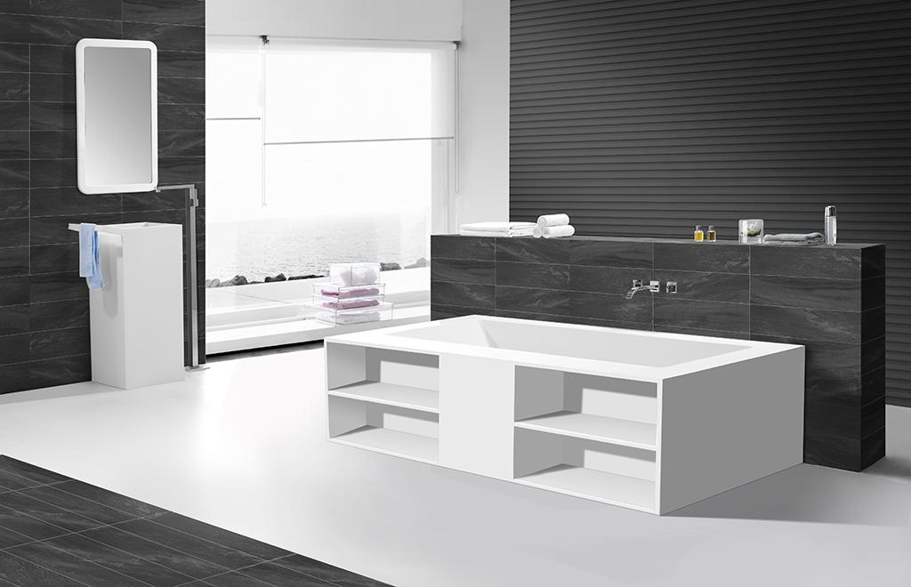 KingKonree freestanding soaking bathtub supplier for bathroom-1