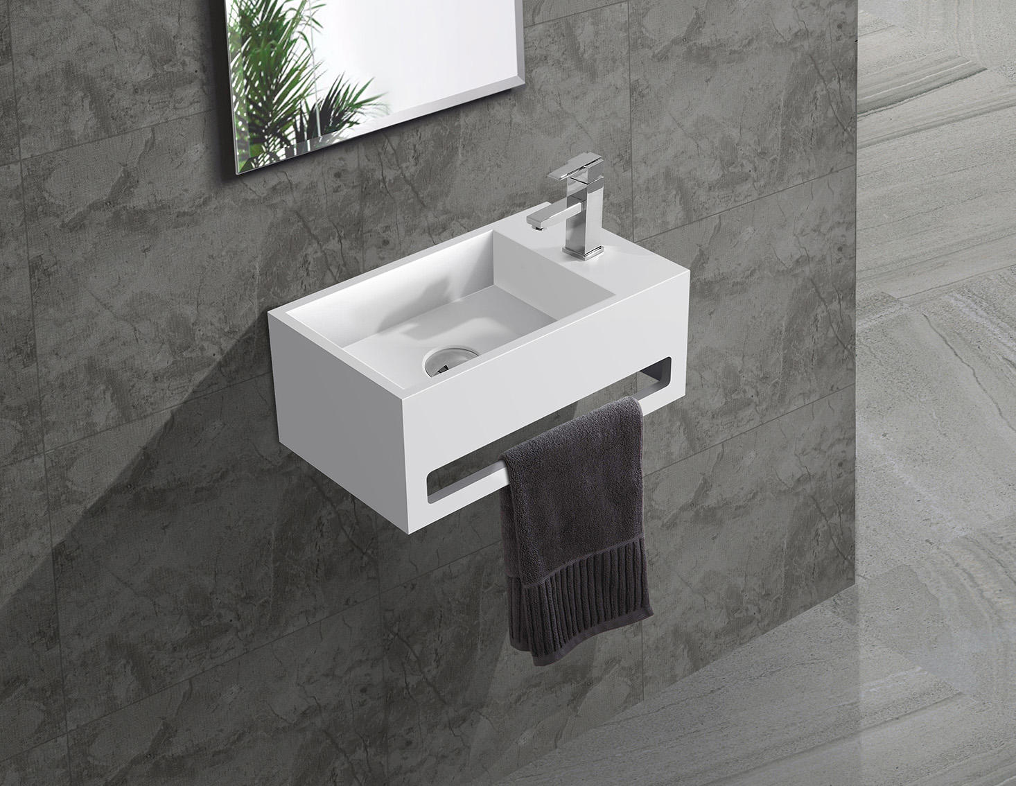 white size bath KingKonree Brand wall mounted bathroom basin factory
