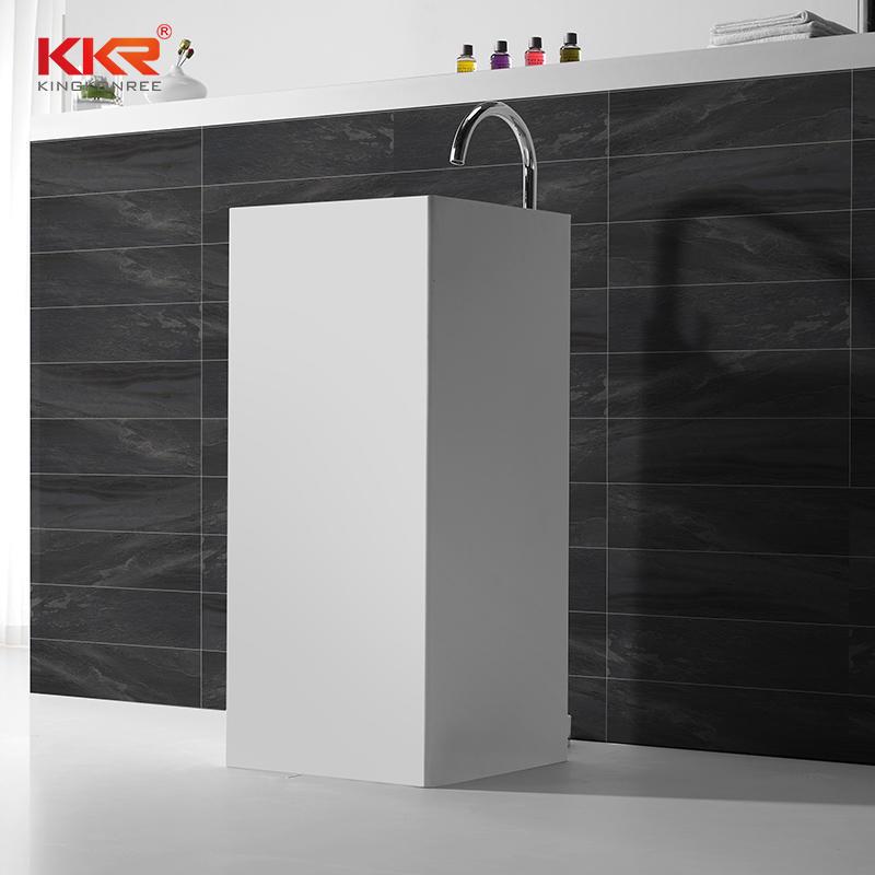Good quality square faux stone freestanding wash basin KKR-1382