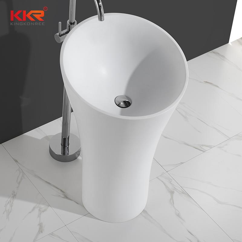 Superficie sólida moderna elegante único baño independiente lavabo KKR-1394