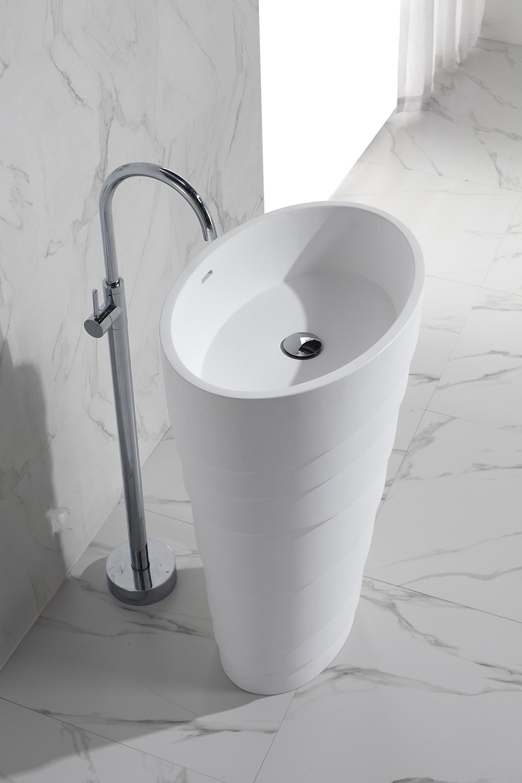 KingKonree pedestal wash basin customized for bathroom-1