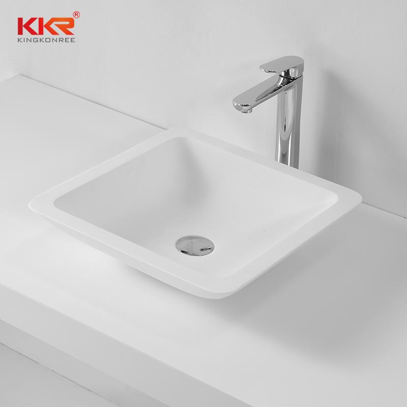 Hot selling good quality bathroom solid surface wash basin KKR-1320