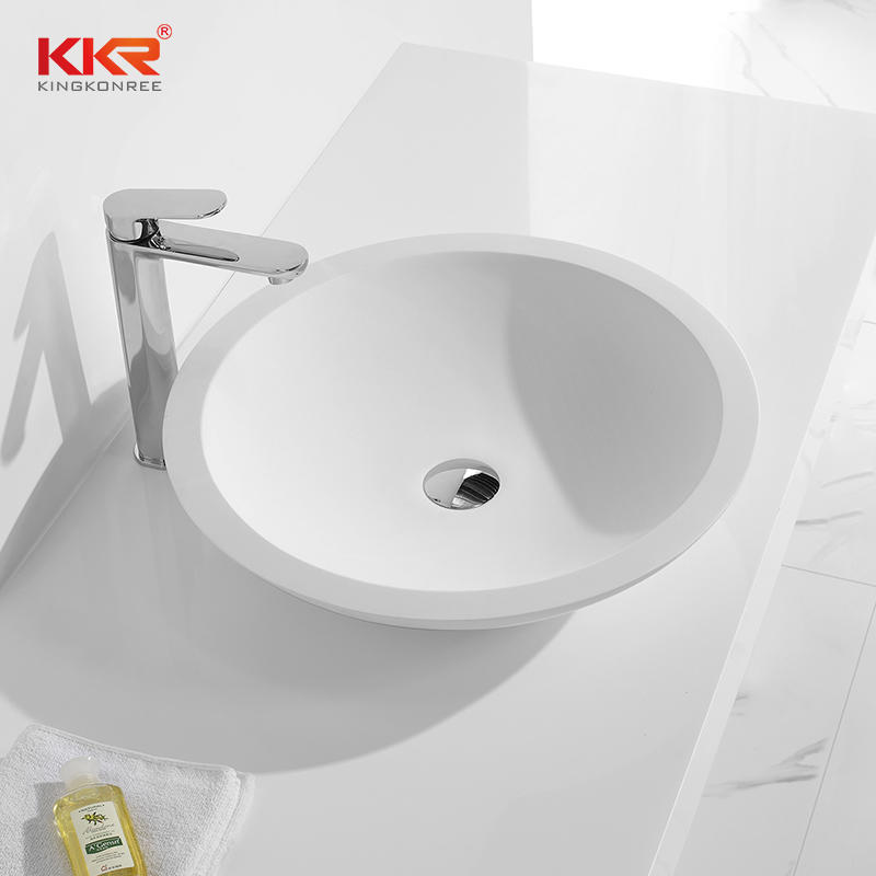 Round Above Counter Wash Basin With 500mm Diameter KKR-1300