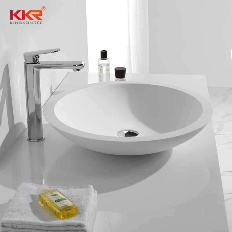 KingKonree Round Above Counter Wash Basin With 500mm Diameter KKR-1300 Above Counter Basin image4