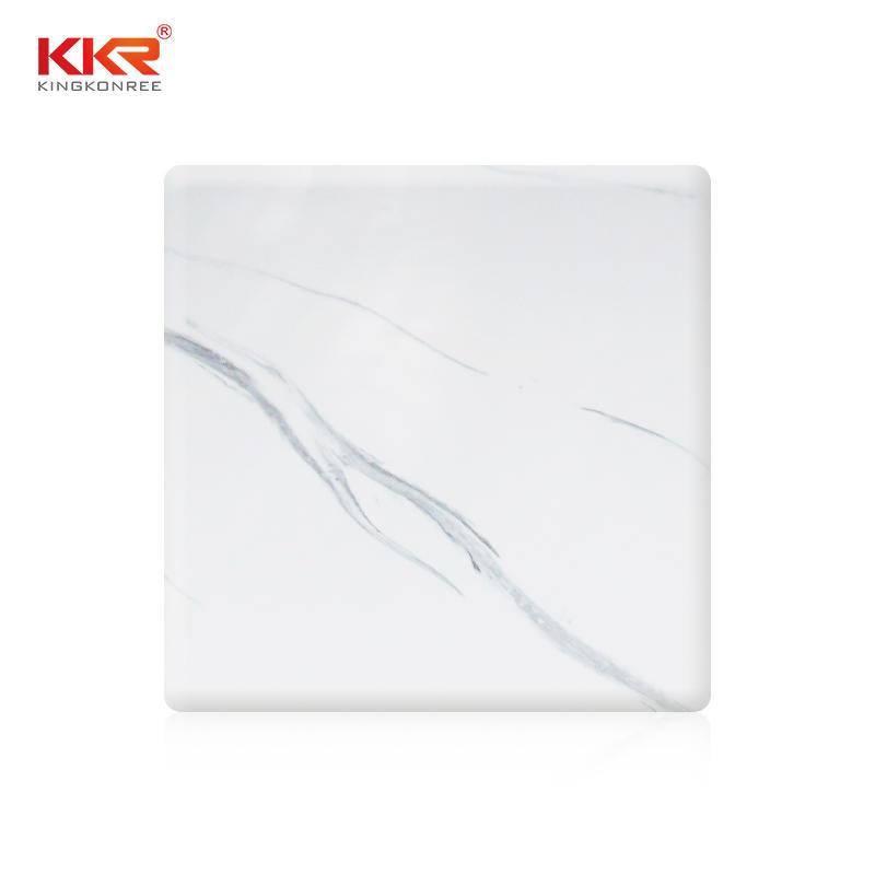 Patrón de textura de mármol Artificial hoja de superficie sólida KKR-M8819