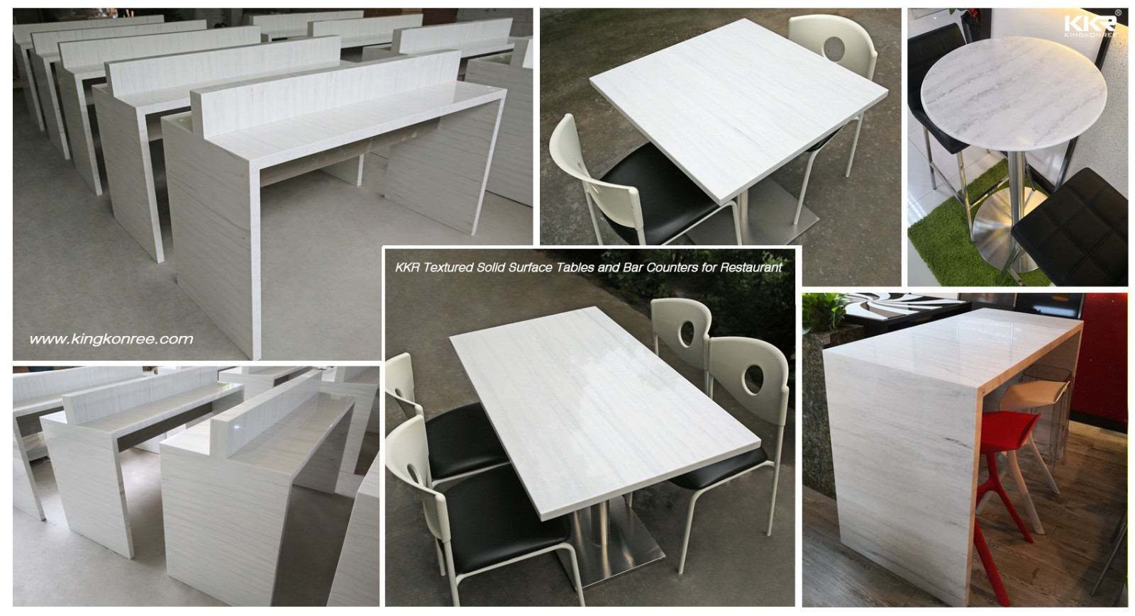 Artificial Marble Texture Pattern Solid Surface Sheet KKR-M8819-19