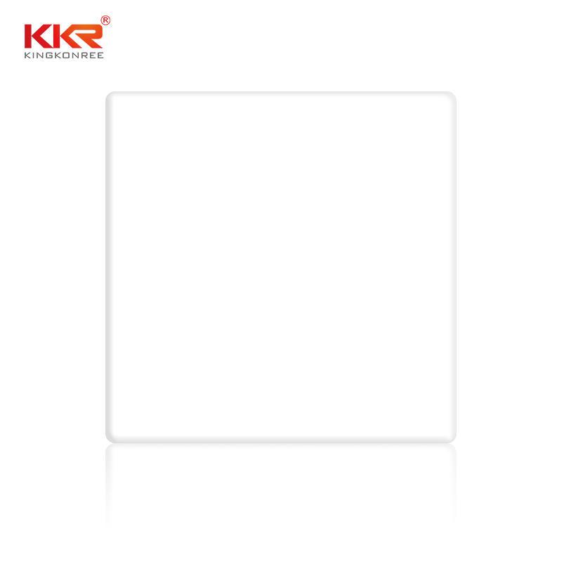 Hoja de superficie sólida acrílica pura blanca de 12mm KKR-2700