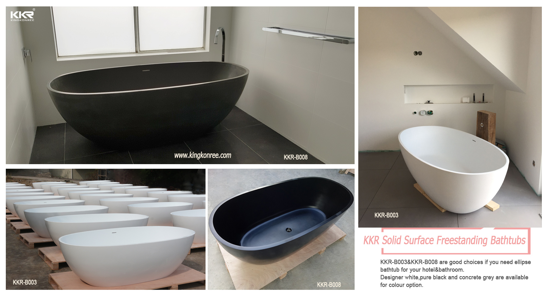 KingKonree high-end acrylic clawfoot bathtub free design-11