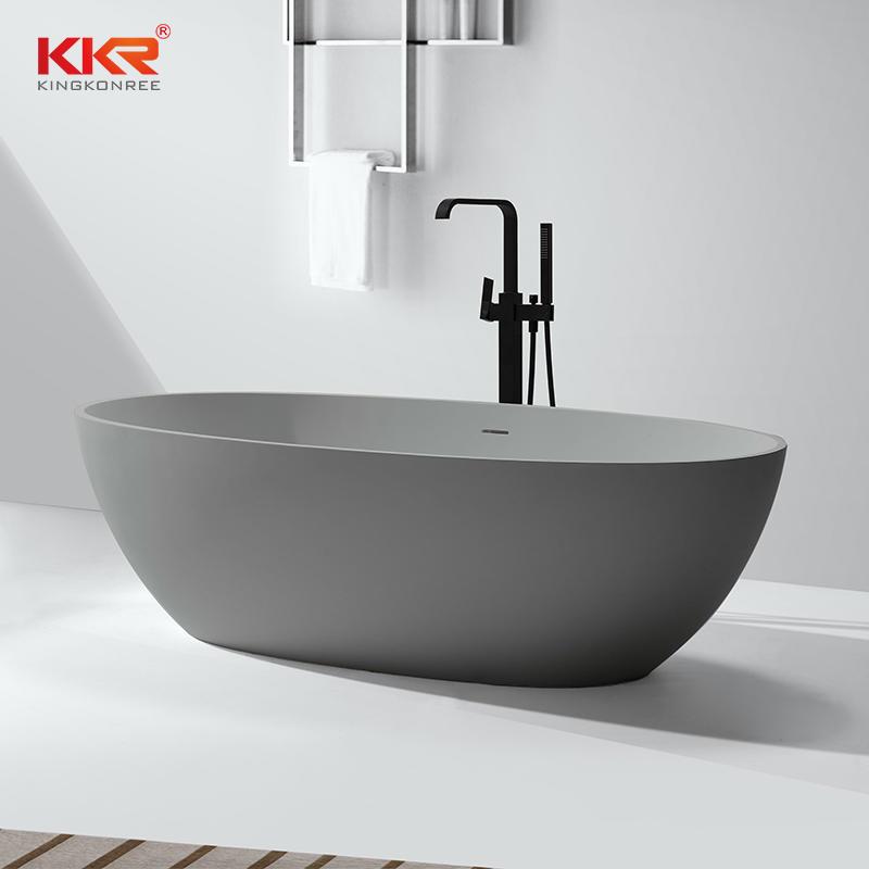 Venta caliente de piedra artificial de superficie sólida bañera de remojo independiente KKR-B003
