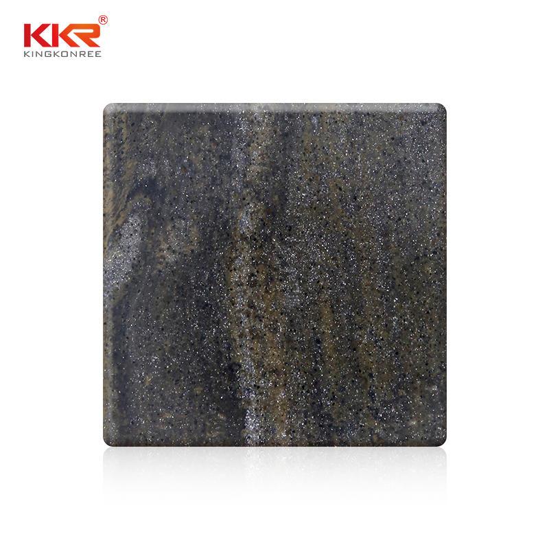 Hoja de superficie sólida acrílica modificada de roca de Lava más vendida KKR-M8846