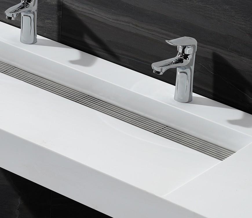 white Custom rectangle artificial wall mounted wash basins KingKonree kkr
