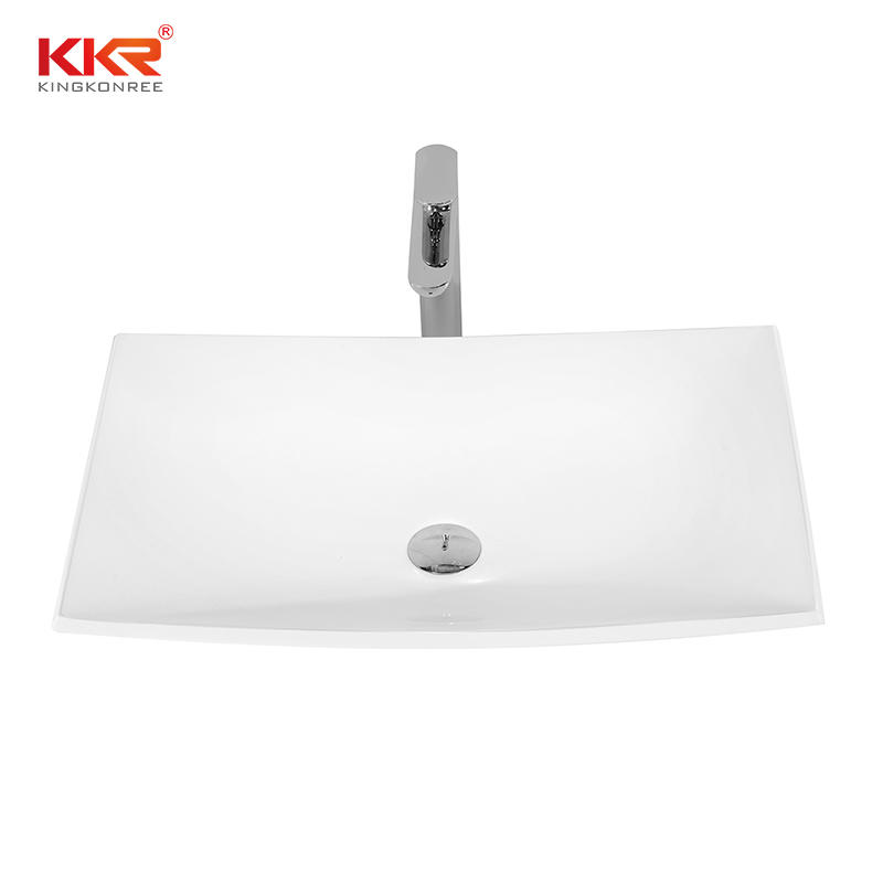 China Manufacturer Solid Surface Above Counter Small Size Basin KKR-1325