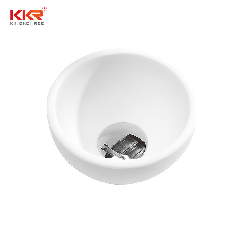Dia200mm Small Size Round Acrylic Solid Surface Above Counter Basin KKR-1515