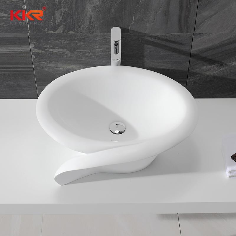 Lavabo de superficie sólida elegante estándar europeo KKR-1395-1
