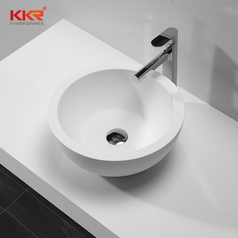 Superficie sólida redonda artística de 422 mm de diámetro sobre la encimera KKR-1501