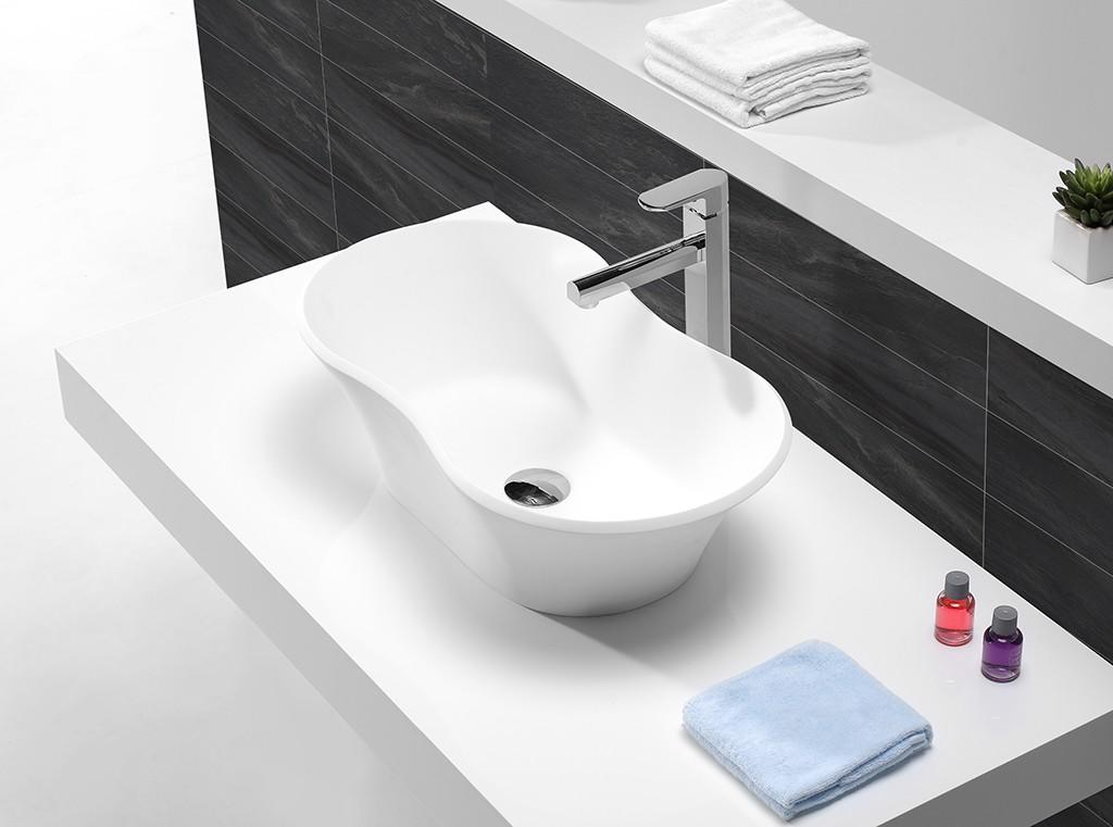KingKonree sanitary ware round above counter basin manufacturer for restaurant