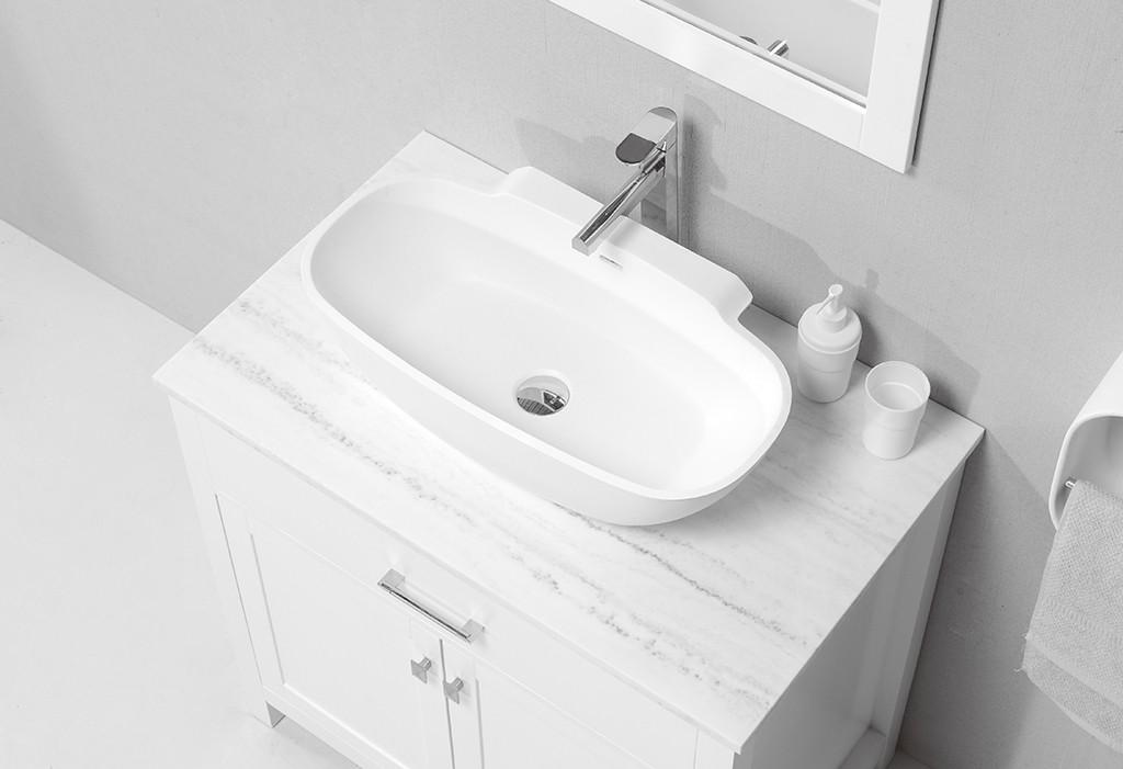 marble above counter vessel sink design for room-1