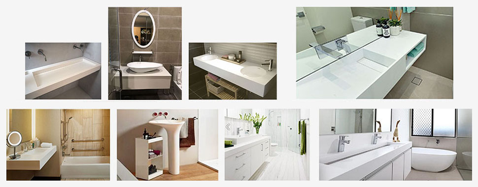 bathroom countertops and sinks at discount for restaurant-10