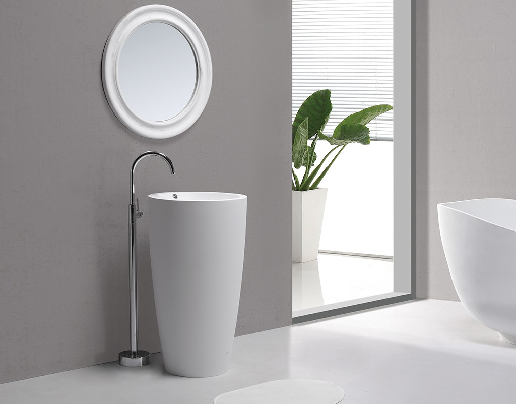 solid stand alone bathroom sink manufacturer for motel-1