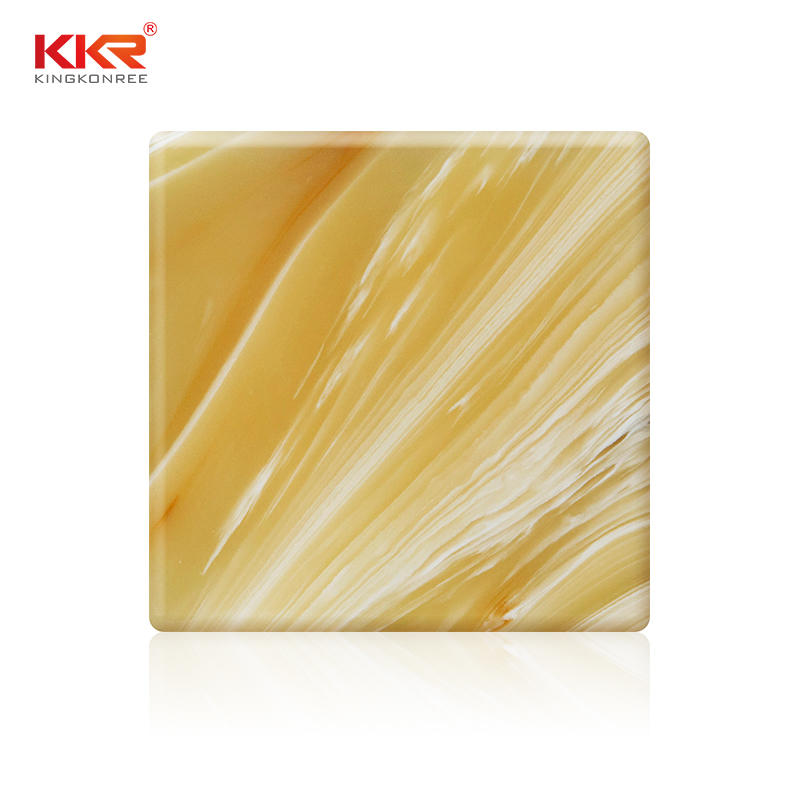 KKR Wholesale Acrylic Stone Translucent Solid Surface Sheets KKR-A029