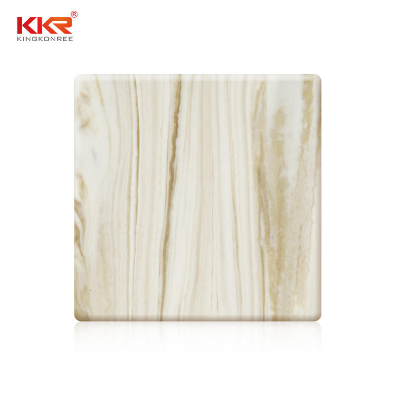 Artificial Stone Acrylic Solid Surface With Texture Pattern KKR-M8852