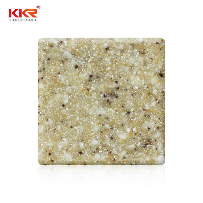 Hot Sales Sand Color Modified Acrylic Solid Surface Sheet KKR-M1610