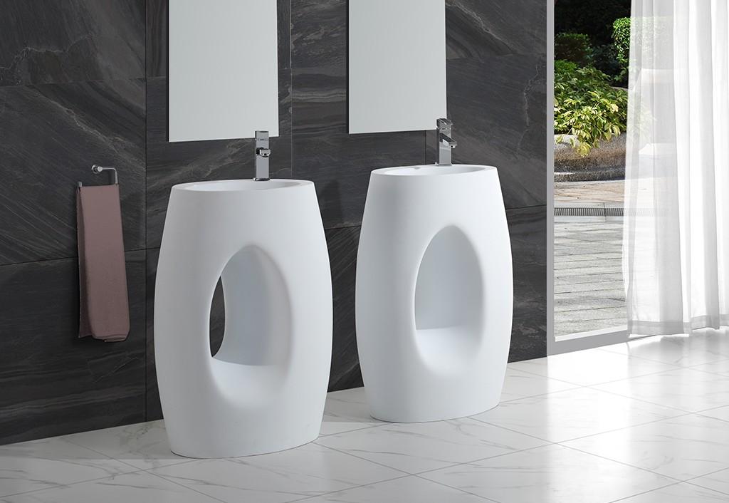 KingKonree artificial free standing wash basin customized for hotel-1
