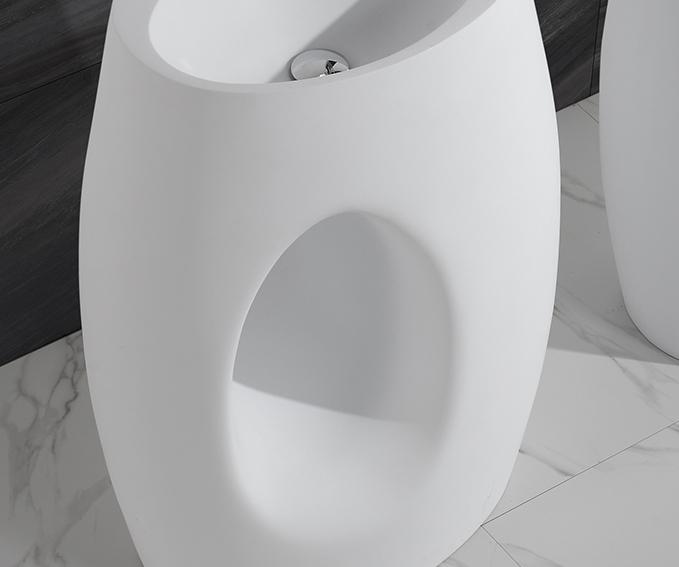 KingKonree artificial free standing wash basin customized for hotel-2