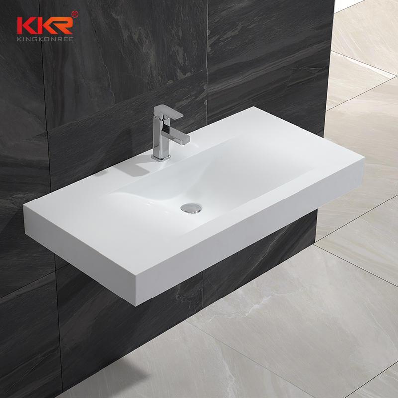 mm de longitud Mármol blanco Piedra artificial Superficie sólida Colgador de pared KKR-1376