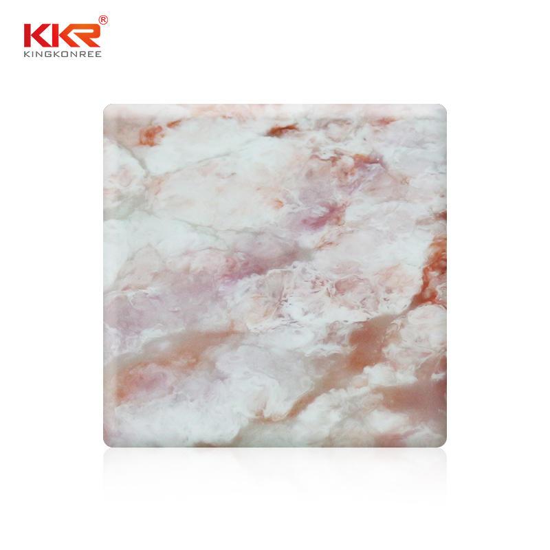 120 Láminas de superficie sólida de acrílico modificado de mármol artificial de 120 pulgadas con patrón de textura KKR-M8809