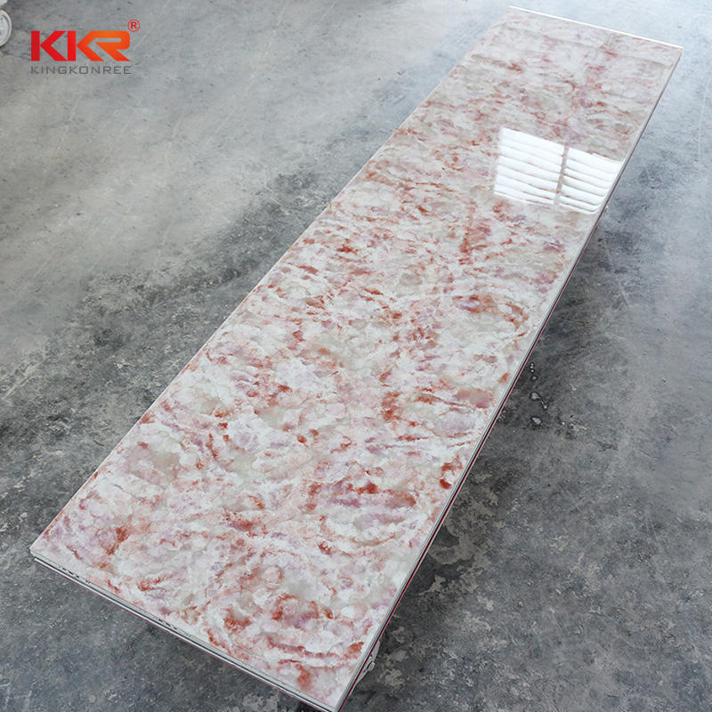 120 Inch Artificial Marble Modified Acrylic Solid Surface Sheets With Texture Pattern KKR-M8809
