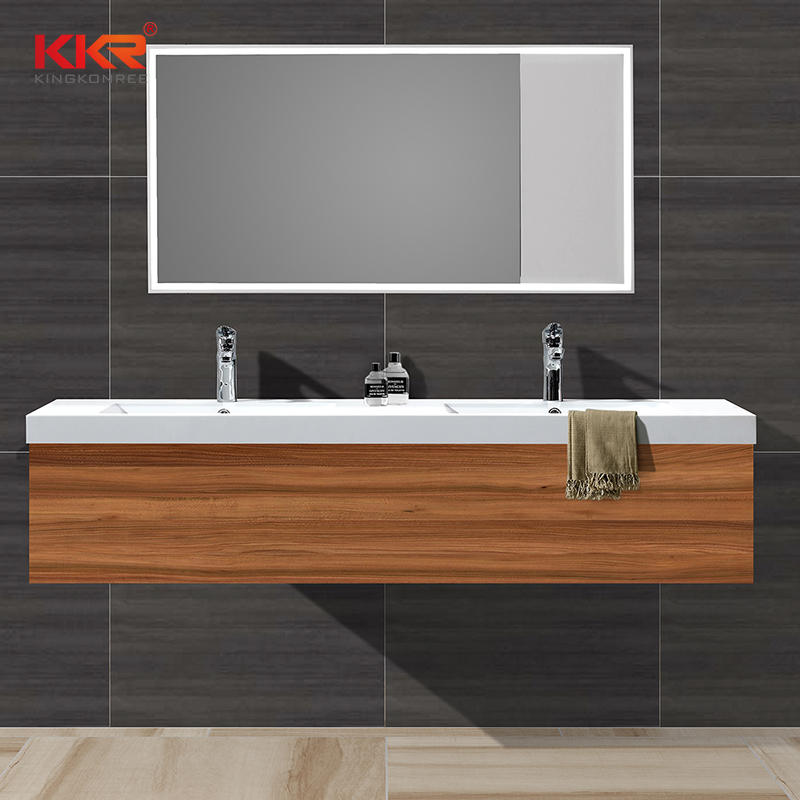 140CM Length Slid Surface Cabinet Basin With Double Sinks  KKR-1201