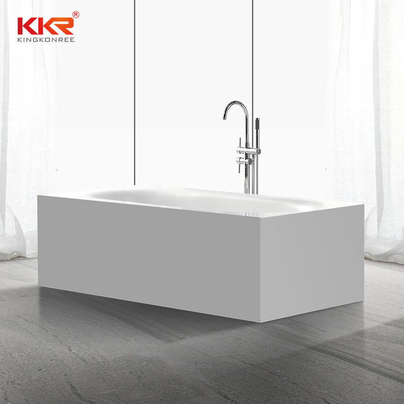 180CM Length Rectangle Acrylic Stone Solid Surface Freestanding Bath Tub KKR-B035