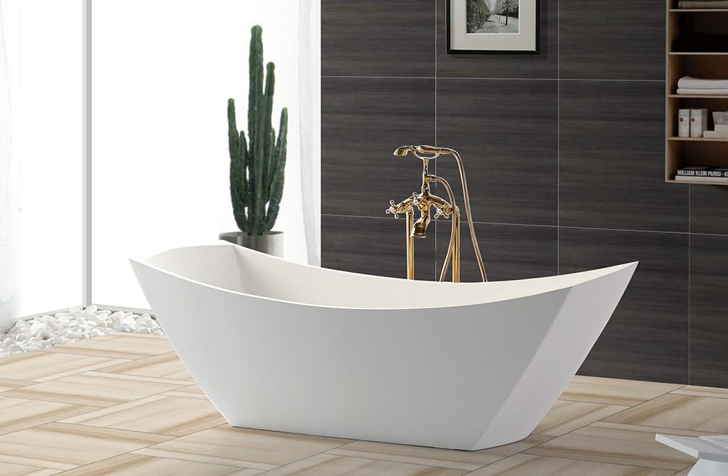 Solid Surface Freestanding Bathtub rectangle ellipse KingKonree Brand