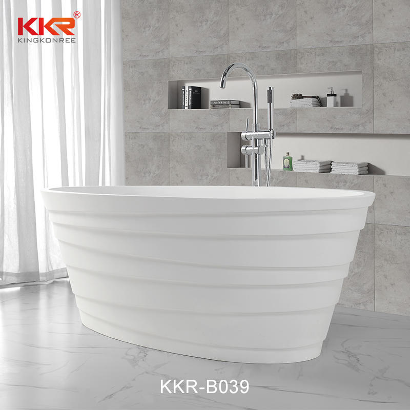 Bañera de superficie sólida de resina acrílica de piedra de tamaño pequeño KKR-B039