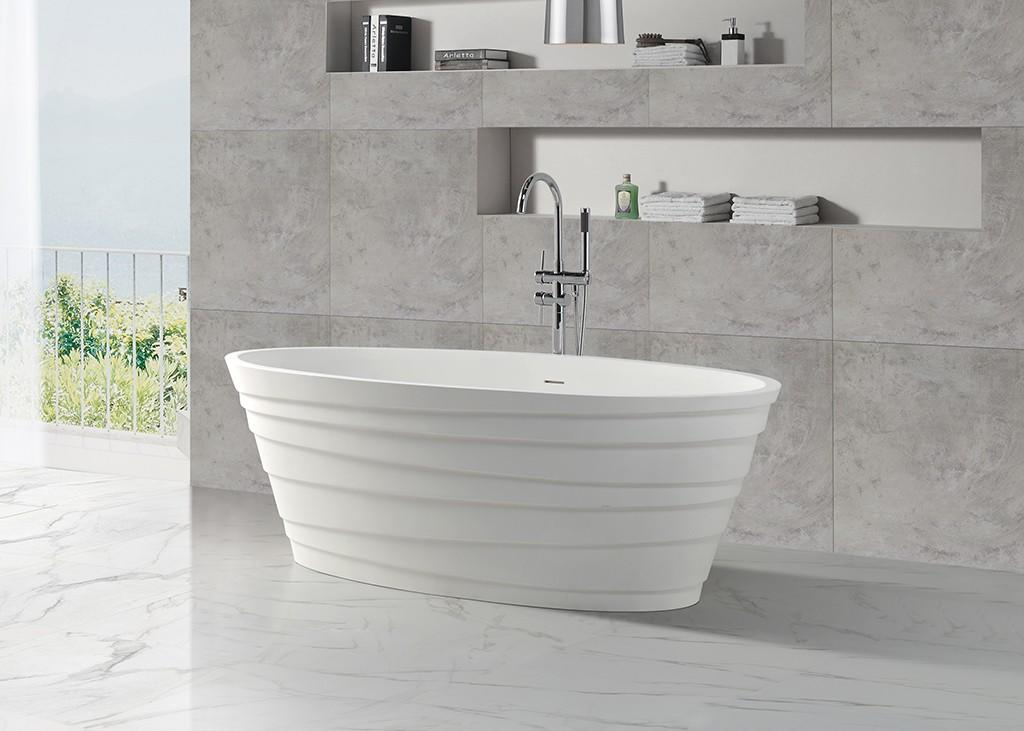 Hot solid surface bathtub freestanding KingKonree Brand