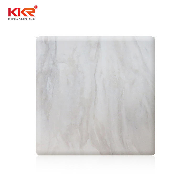 KKR Wholesale Modified Acyrlic Solid Surface Sheets With Texture Pattern KKR-M8817
