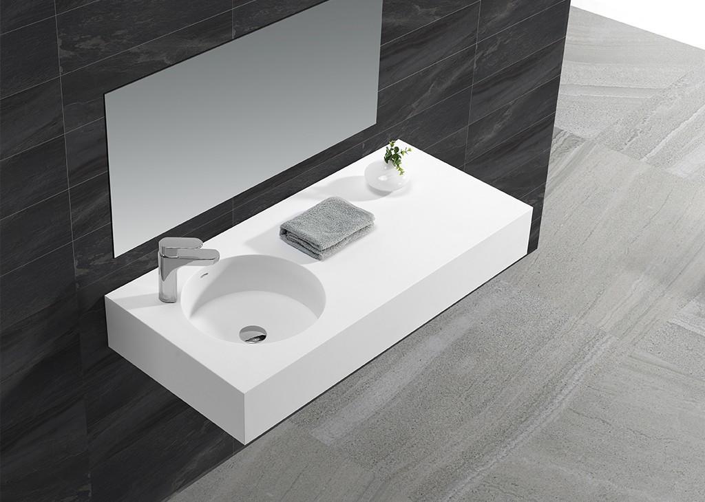 KingKonree Brand acrylic marble mounted modern wall mounted wash basins