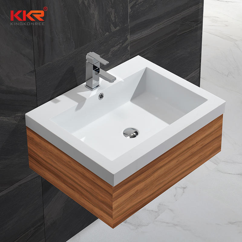 Gel Coat Stone Resin Acrylic Solid Surface Cabinet Basin KKR-1345