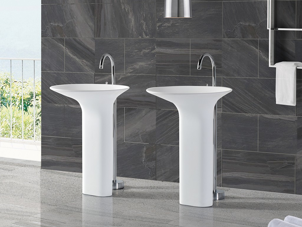 resin bathroom sink stand factory price for bathroom-1