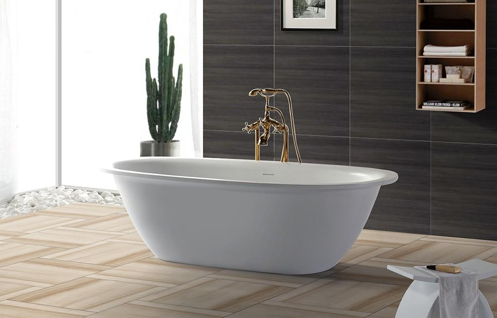 soaking Custom stone solid surface bathtub resin KingKonree